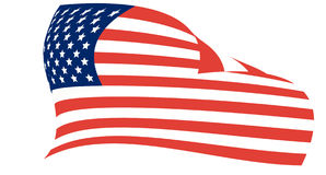 Amerikanische lebende Markierungsfahne Stockfotos