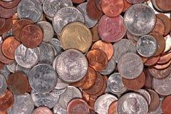Amerikanische Münzen Stockfoto