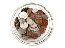 Amerikanische Münzen Stockfotos
