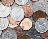 Amerikanische Münzen Stockbild