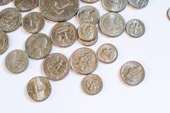 Amerikanische Münzen Einige sind alt historisch Stockbilder
