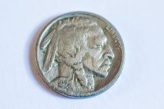 Amerikanische Münzen Einige sind alt historisch Lizenzfreies Stockbild