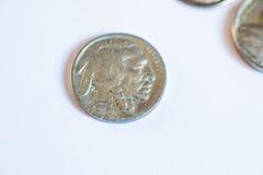 Amerikanische Münzen Einige sind alt historisch Stockbild