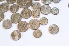 Amerikanische Münzen Einige sind alt historisch Stockfotografie