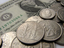 Amerikanische Münzen und Dollar, Vermont-Staat, Geld Stockbilder