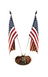 Amerikanische Miniaturflaggen Stockbild