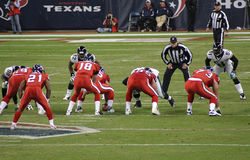 Amerikanische NFL-Fußball-Spieler Stockbild