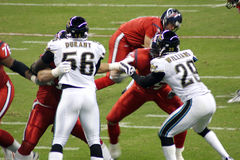 Amerikanische NFL-Fußball-Spieler Lizenzfreies Stockfoto