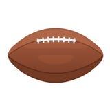 Amerikanische oder kanadische Fußballvektorikone Ledernes eq Ball des Sports Stockbilder