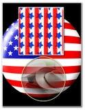 Amerikanische Patriotismusschablone Stockfotos
