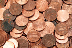 Amerikanische Pennys schließen oben Lizenzfreies Stockbild