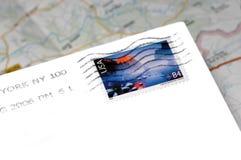 Amerikanische Post vorbei der Karte Lizenzfreies Stockfoto