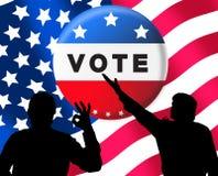 Amerikanische Präsidentenwahlfahne stockbilder