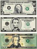 Amerikanische Rechnungen Stockfotos