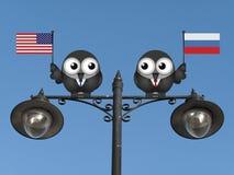 Amerikanische russische Führer Stockbild
