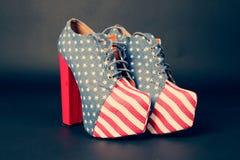 Amerikanische Schuhe Stockfotos