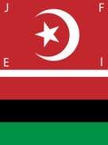 Amerikanische schwarze nationalistische Markierungsfahnen Stockfoto