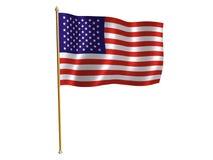 Amerikanische silk Markierungsfahne Stockbilder