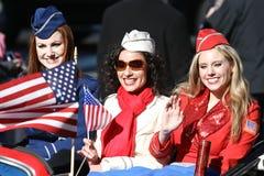 Amerikanische Soldat-Mädchen Stockfotografie