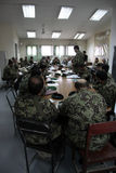 Amerikanische Soldaten ausbilden afghanische Armee he Lizenzfreies Stockbild