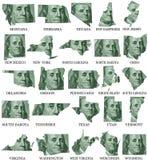 Amerikanische Staaten von M zu W lizenzfreie abbildung
