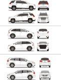 Amerikanische SUV Fahrzeugumreiß lizenzfreie stockfotografie