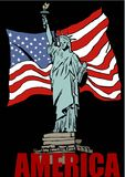 Amerikanische Symbole Stockbilder
