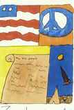 Amerikanische Symbole der Freiheit Lizenzfreies Stockfoto