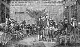 Amerikanische Unabhängigkeitserklärung Stockfotos