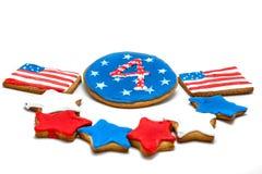 Amerikanische Unabhängigkeitstagplätzchen Stockbild