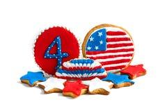 Amerikanische Unabhängigkeitstagplätzchen Stockfoto