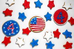 Amerikanische Unabhängigkeitstagplätzchen Lizenzfreies Stockbild