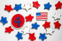 Amerikanische Unabhängigkeitstagplätzchen Lizenzfreies Stockfoto