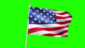Amerikanische USA fahnenschwenkend, Sternenbanner, Staaten von Amerika fahnenschwenkend, nahtlose Schleifungswiedergabe 3D stock footage