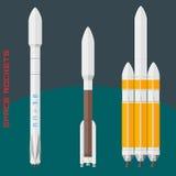 Amerikanische Weltraumraketen eingestellt lizenzfreie stockfotografie