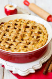 Amerikanischer Apfelkuchen stockbild