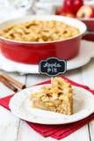 Amerikanischer Apfelkuchen lizenzfreie stockbilder