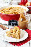 Amerikanischer Apfelkuchen lizenzfreie stockfotos