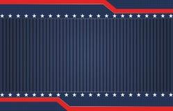 Amerikanischer blauer patriotischer Hintergrund lizenzfreie abbildung