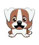 Amerikanischer Bulldoggewelpe vektor abbildung