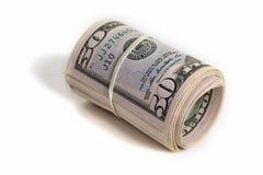 Amerikanischer Dollar in der Hand Lizenzfreie Stockbilder
