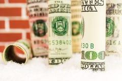 Amerikanischer Dollarwert eingefroren Stockbilder