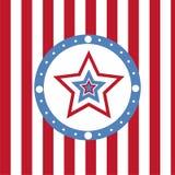 Amerikanischer farbiger Sternhintergrund lizenzfreie abbildung