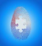 Amerikanischer Fingerabdruck mit Puzzlespiel Stockfotografie