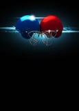 Amerikanischer Football-Helm-Hintergrund Stockbilder