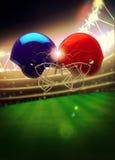 Amerikanischer Football-Helm-Hintergrund Lizenzfreie Stockfotografie