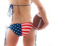 Amerikanischer Fußball lizenzfreie stockbilder