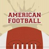 Amerikanischer Fußball lizenzfreie abbildung