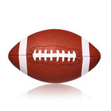 Amerikanischer Fußball-Ball lokalisiert Stockfotografie