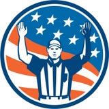 Amerikanischer Fußball-Beamt-Schiedsrichter Touchdown Stockfotografie